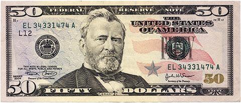 50ドル紙幣